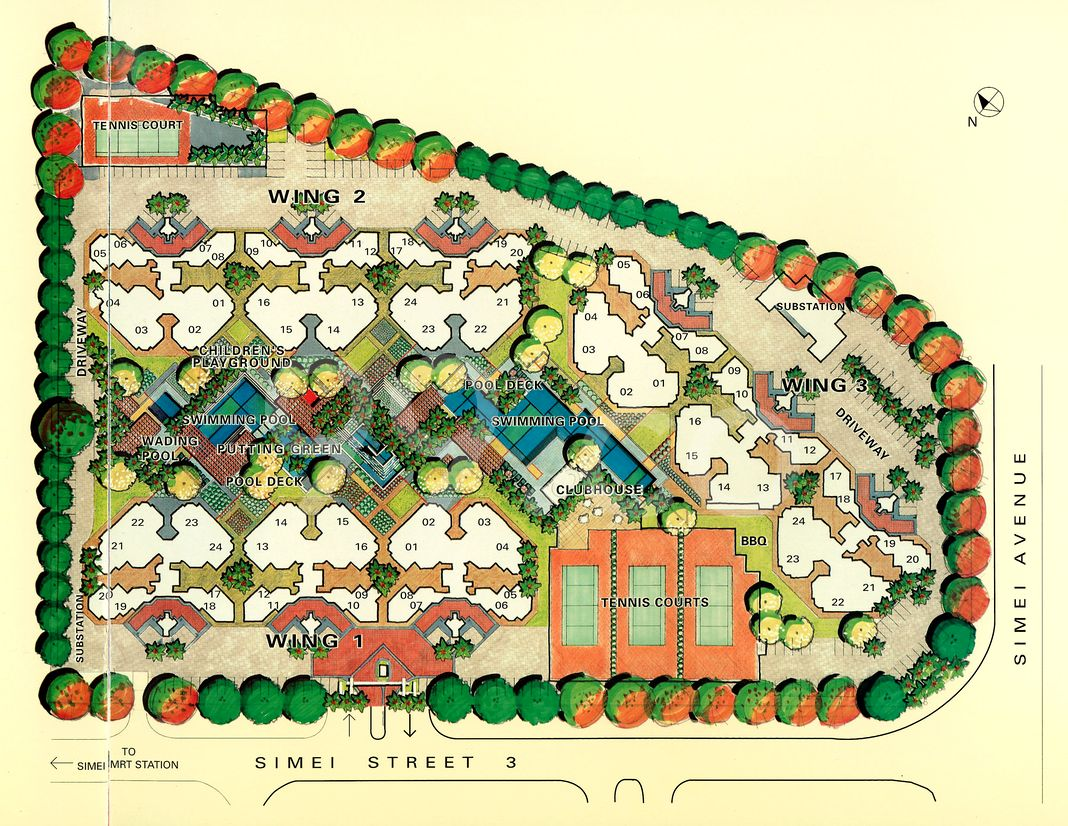 Eastpoint Green Condo Site Plan in Tampines by Nissho Iwai Corporation & Far East Organization