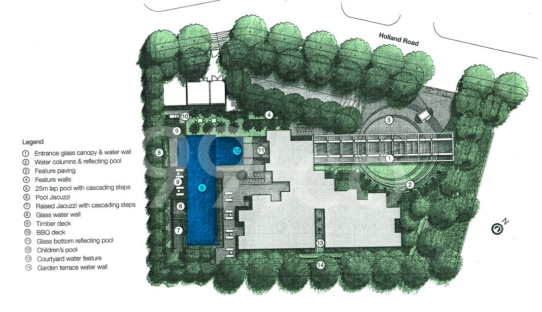 Quinterra Condo Site Plan in Bukit Timah by Ho Bee Group
