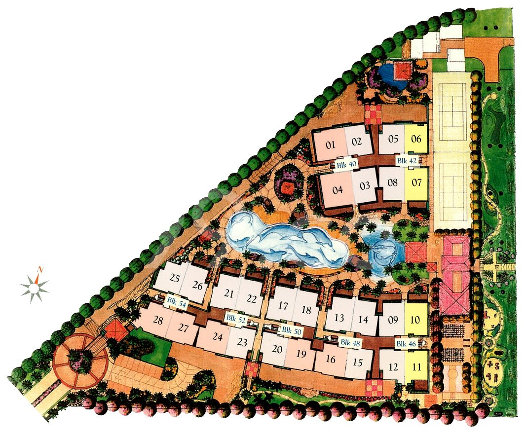 Yishun Sapphire Condo Site Plan in Yishun by Frasers Centrepoint Homes