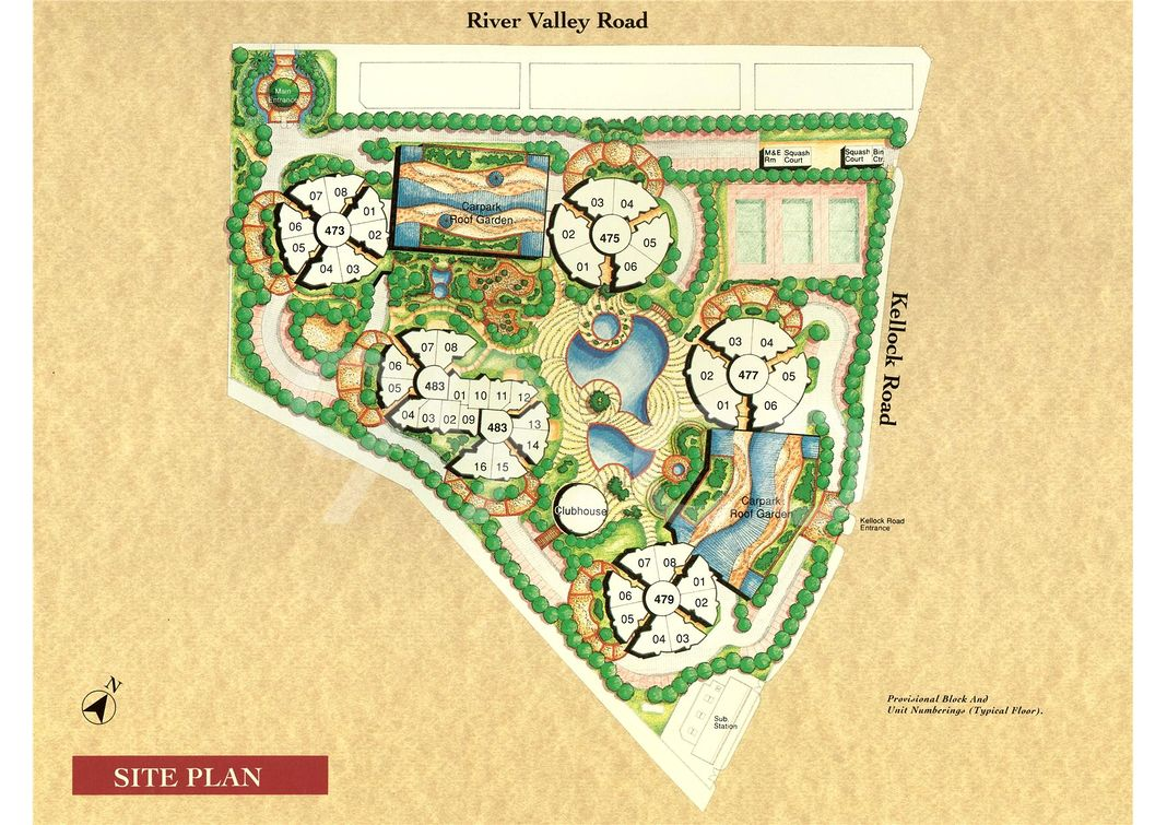 Valley Park Condo Site Plan in Tanglin by River Valley Properties Pte Ltd