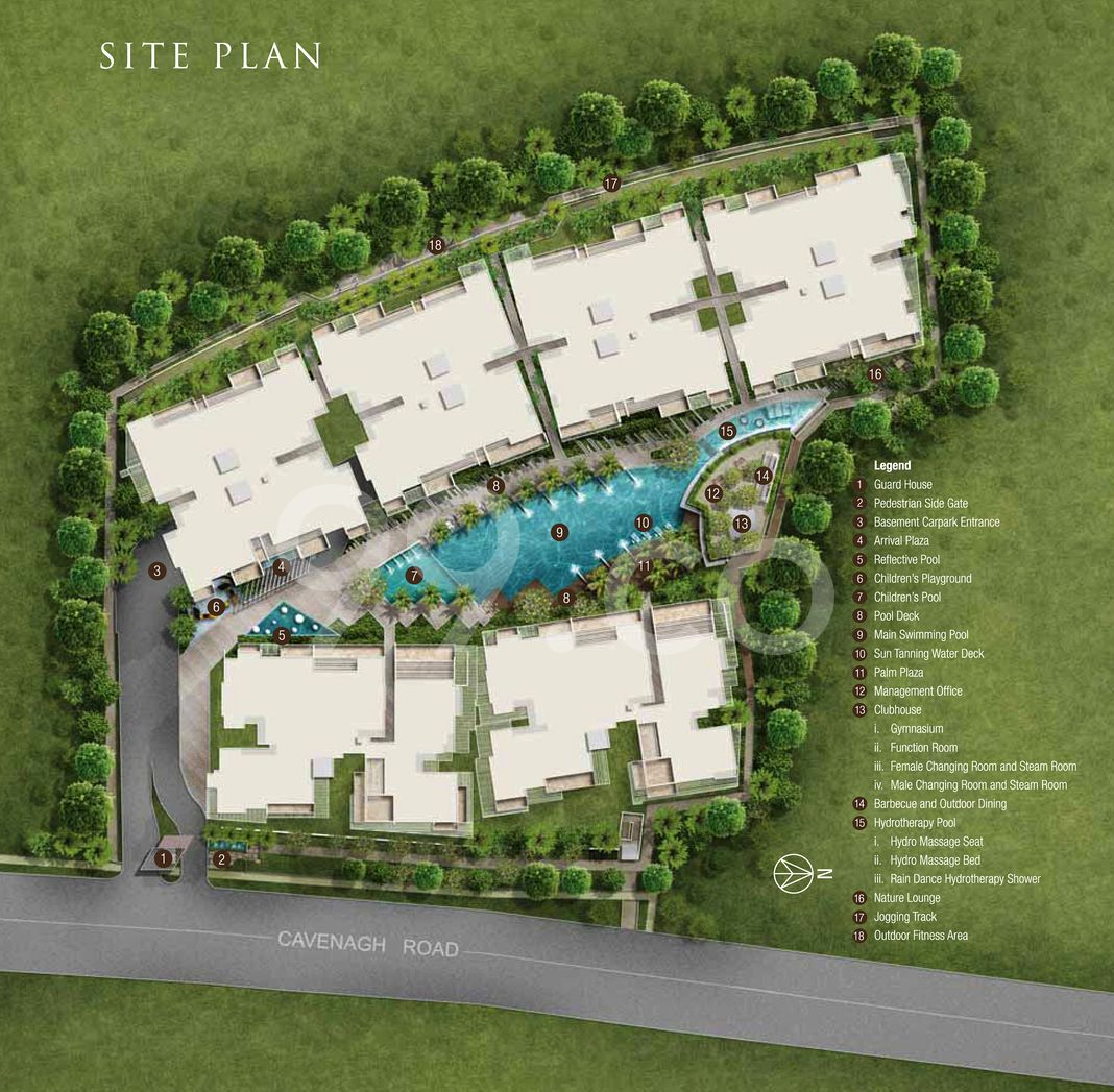 Waterscape At Cavenagh Condo Site Plan in Newton by Cavenagh Properties Pte Ltd