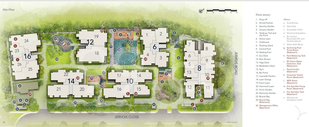 Jervois Mansion Condo Site Plan in Tanglin by Kimen Realty Pte Ltd