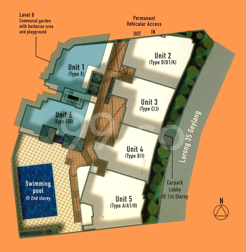Regal 35 Condo Site Plan in Geylang by Summer Investments Pte Ltd
