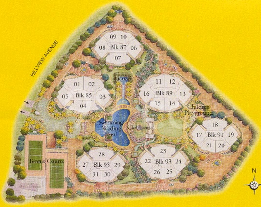 The Petals Condo Site Plan in Bukit Batok by Frasers Centrepoint Homes