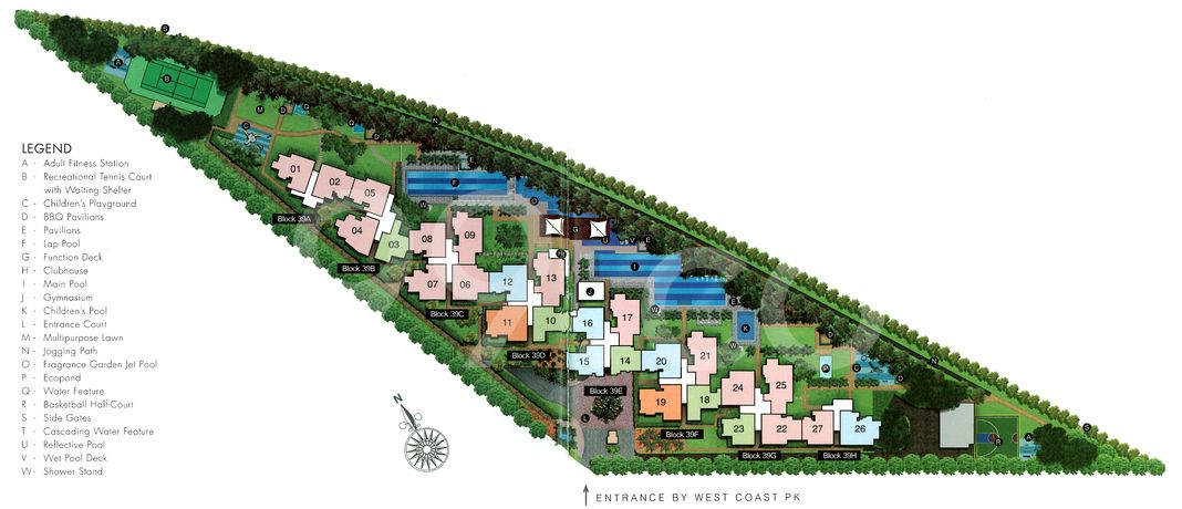 The Infiniti Condo Site Plan in Clementi by Frasers Centrepoint Homes