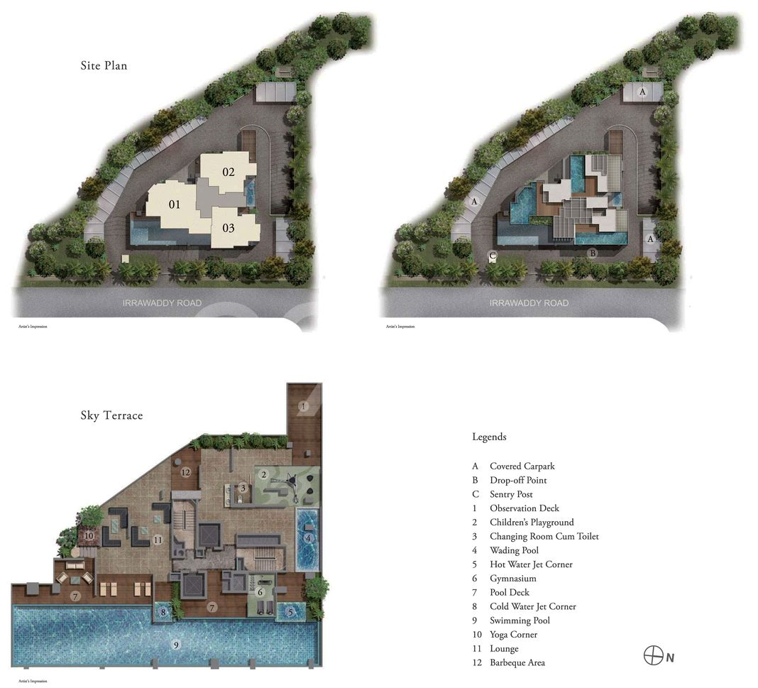 Iresidences Condo Site Plan in Novena by Novelty Asia Pacific Pte Ltd