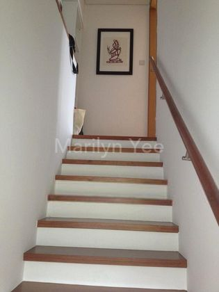 Stairs leading to level 2