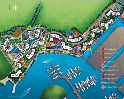 Reflections at keppel bay condo singapore site plan