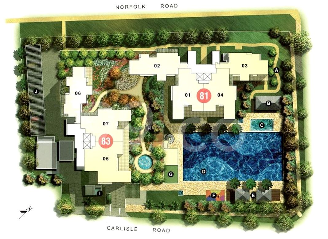 Mera Springs Condo Site Plan in Kallang by Mcl Land (Property Management) Pte Ltd