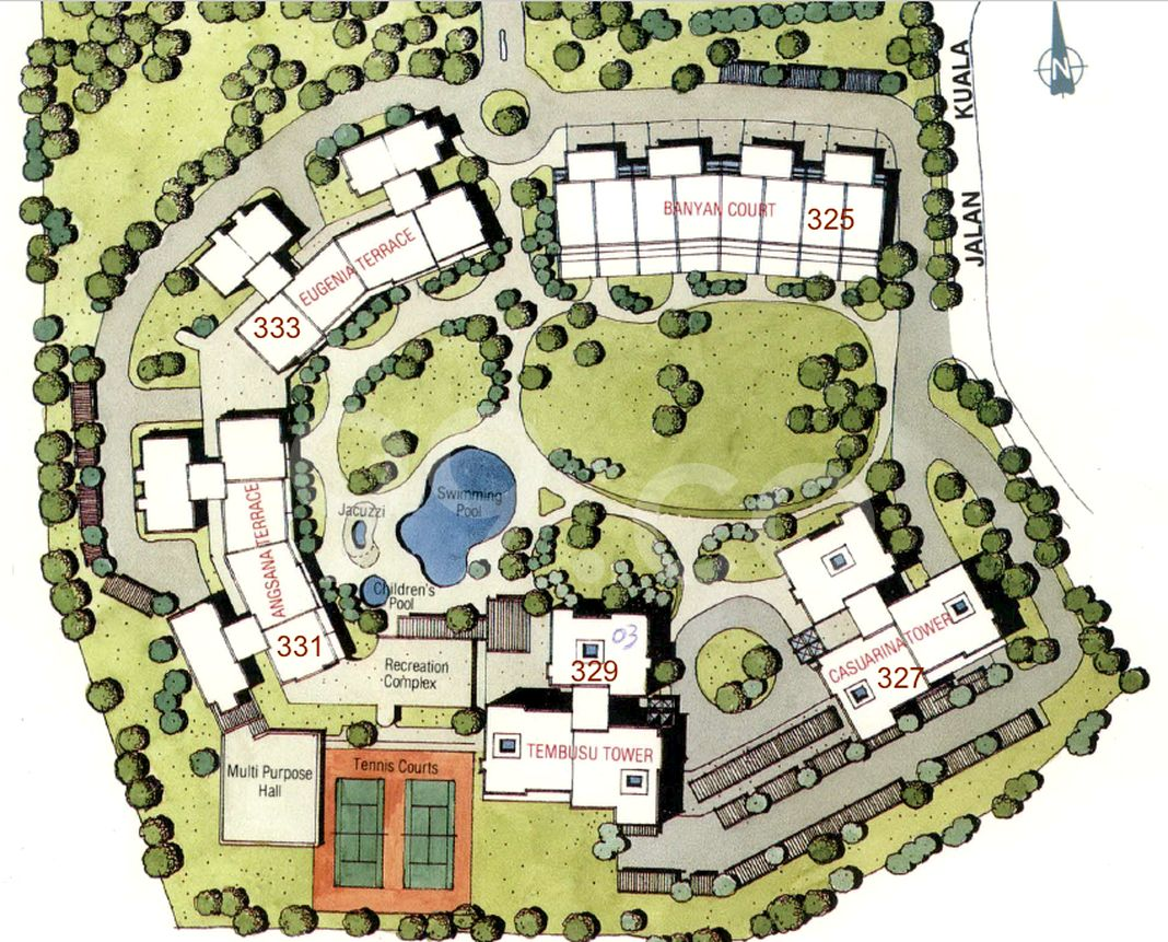 Yong An Park Condo Site Plan in River Valley by Riverview Development Pte Ltd