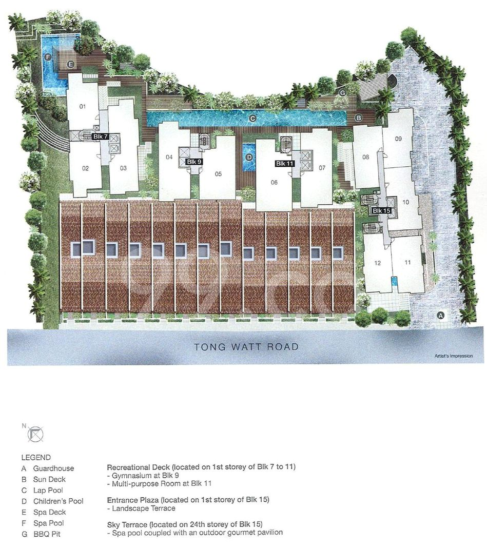 The Wharf Residence Condo Site Plan in River Valley