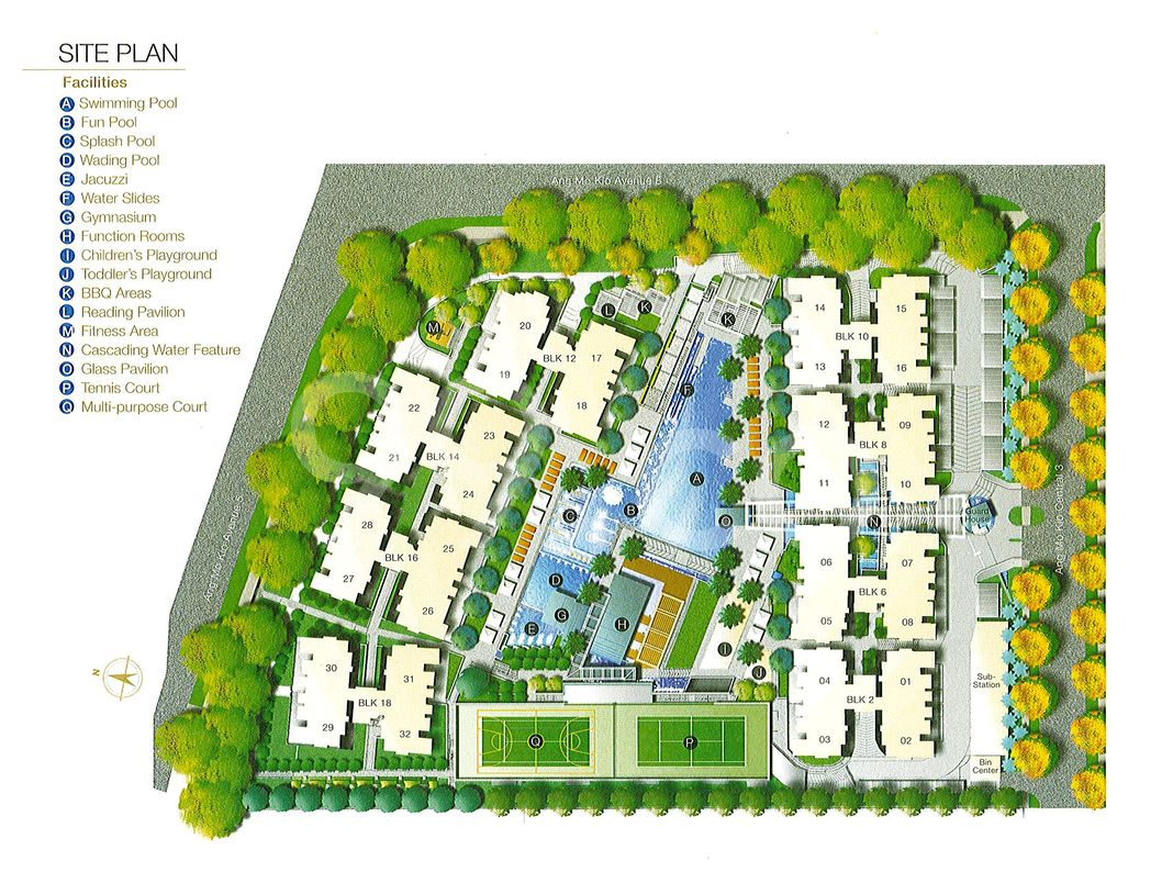Grandeur 8 Condo Site Plan in Ang Mo Kio by NTUC Choice Homes Co-Operative Limited