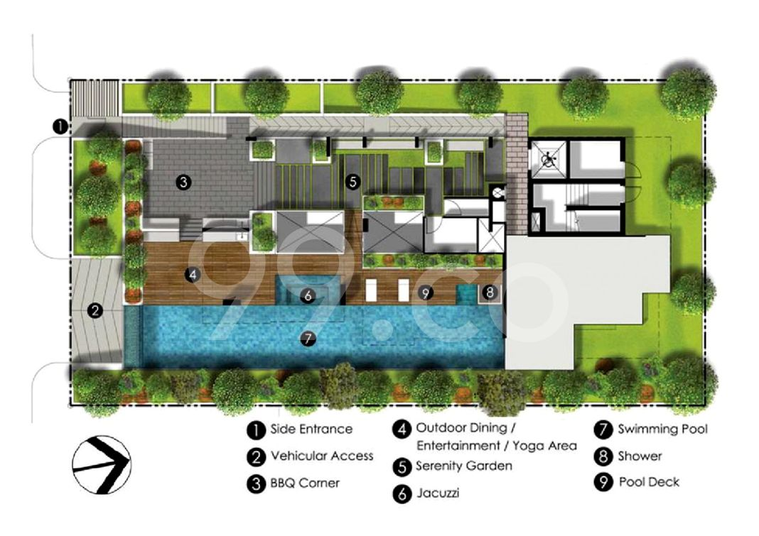 Qube Suites Condo Site Plan in Bedok by Macly Pte Ltd