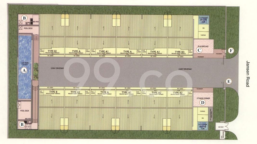 Legend @ Jansen Condo Site Plan in Hougang by Fragrance Land Pte Ltd