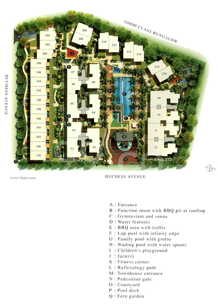 Casabella Condo Site Plan in Bukit Timah by Crl Realty Pte Ltd (Capitaland)
