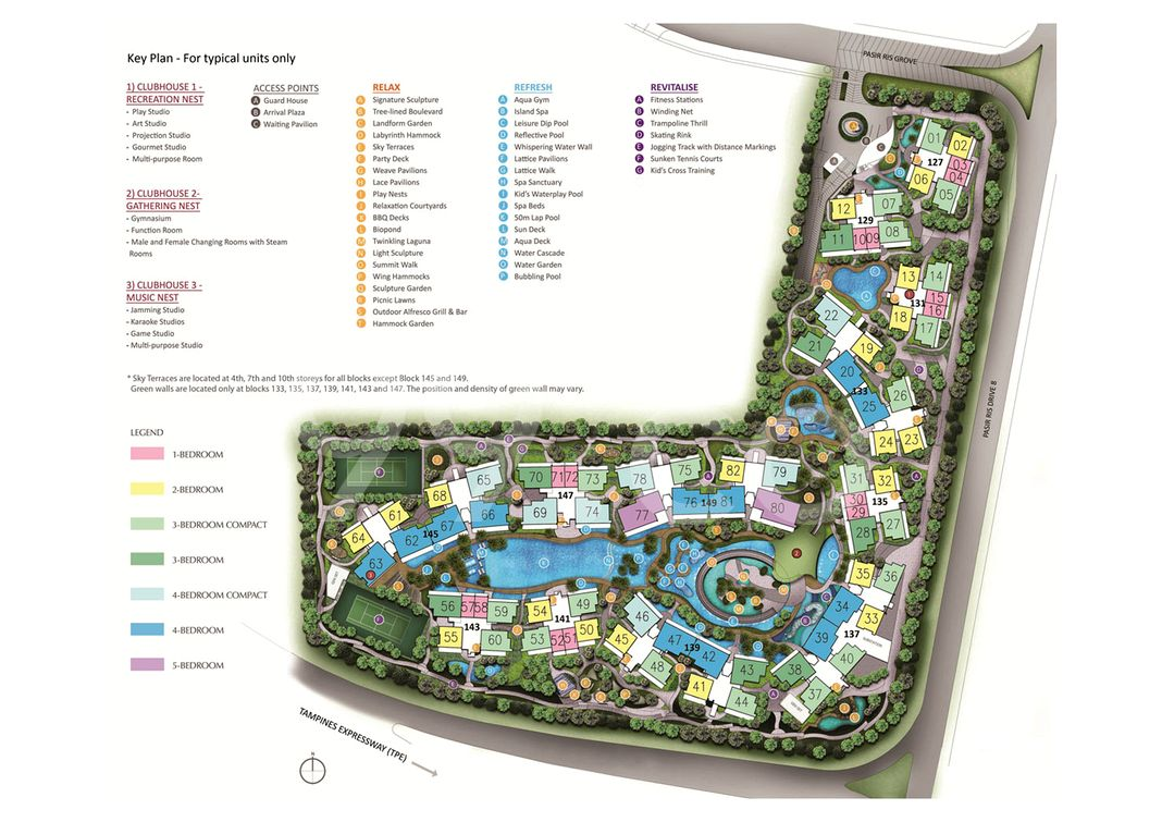 D'nest Condo Site Plan in Pasir Ris by Hong Realty (Private) Limited