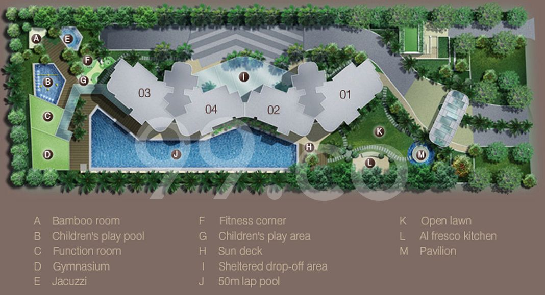 Madison Residences Condo Site Plan in Tanglin by Keppel Land Realty Pte Ltd