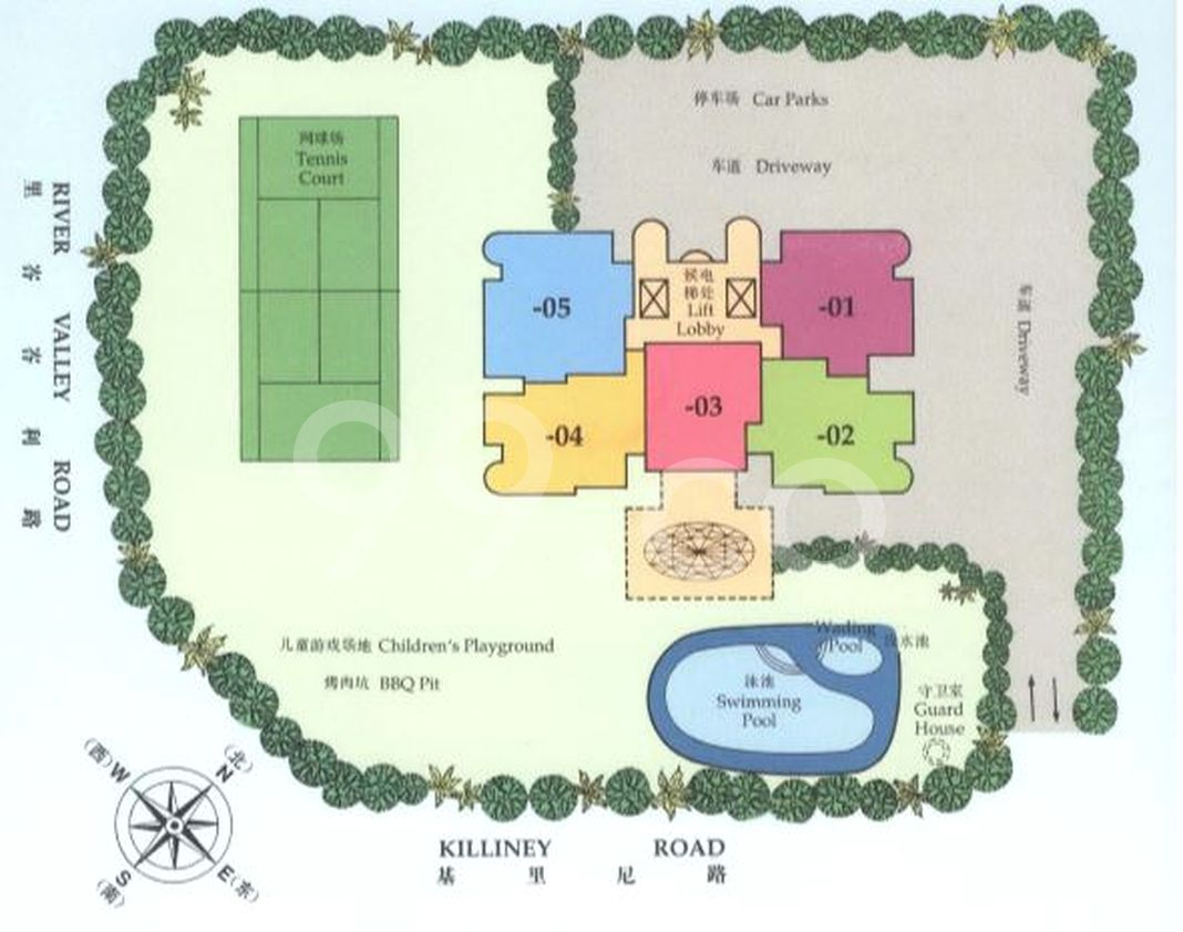 La Crystal Condo Site Plan in River Valley by Central Park Investments Pte Ltd