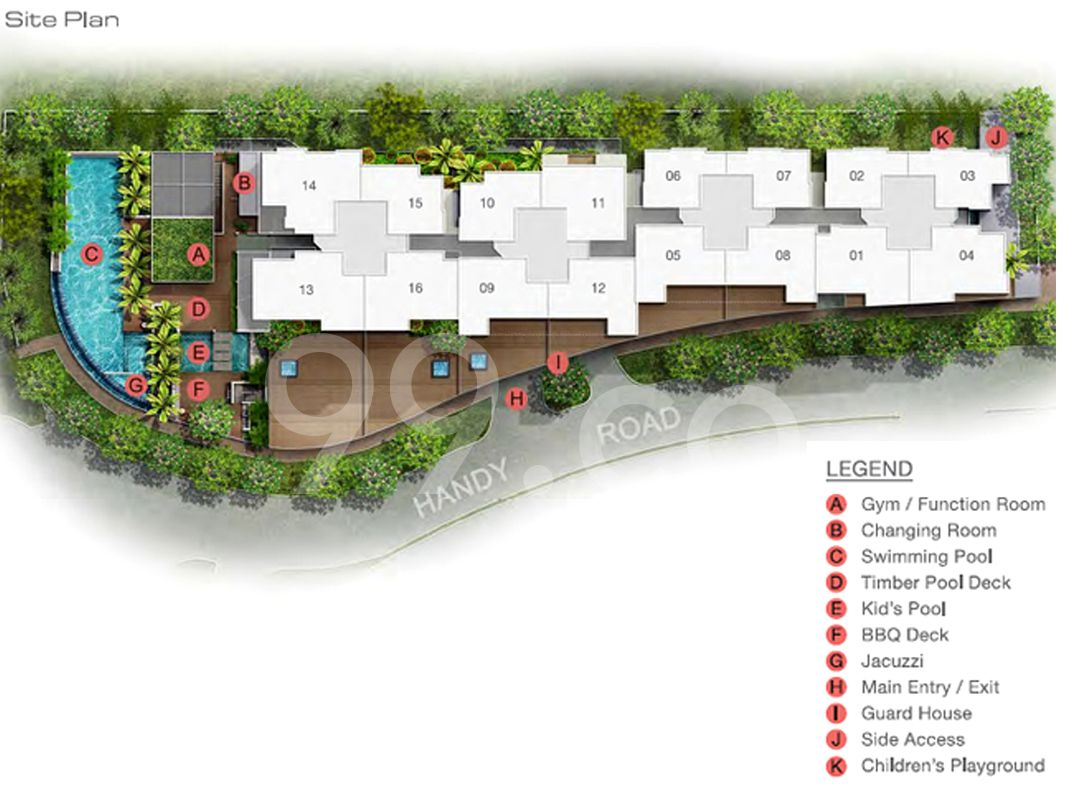 Suites At Orchard Condo Site Plan by Allgreen Properties