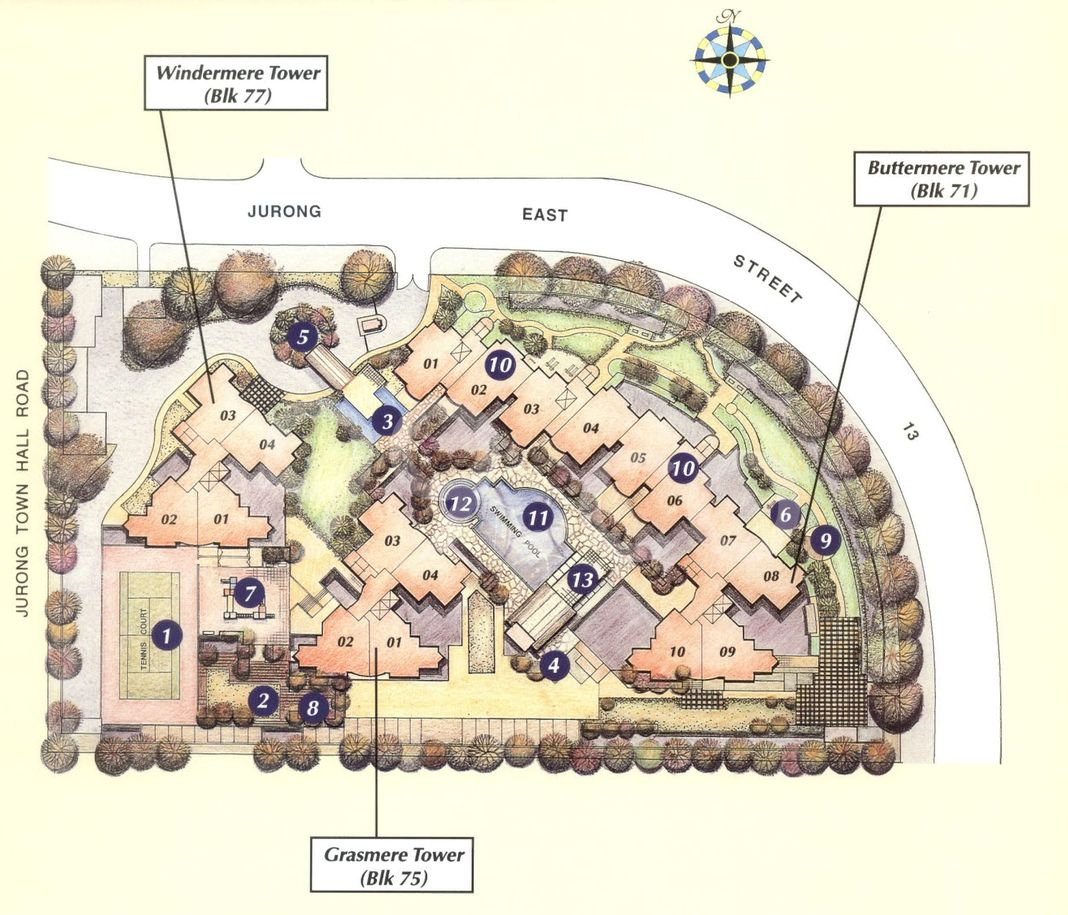 Westmere Condo Site Plan in Jurong East by Mere Twr (20Stry Each)/Pidemco Land Pte Ltd
