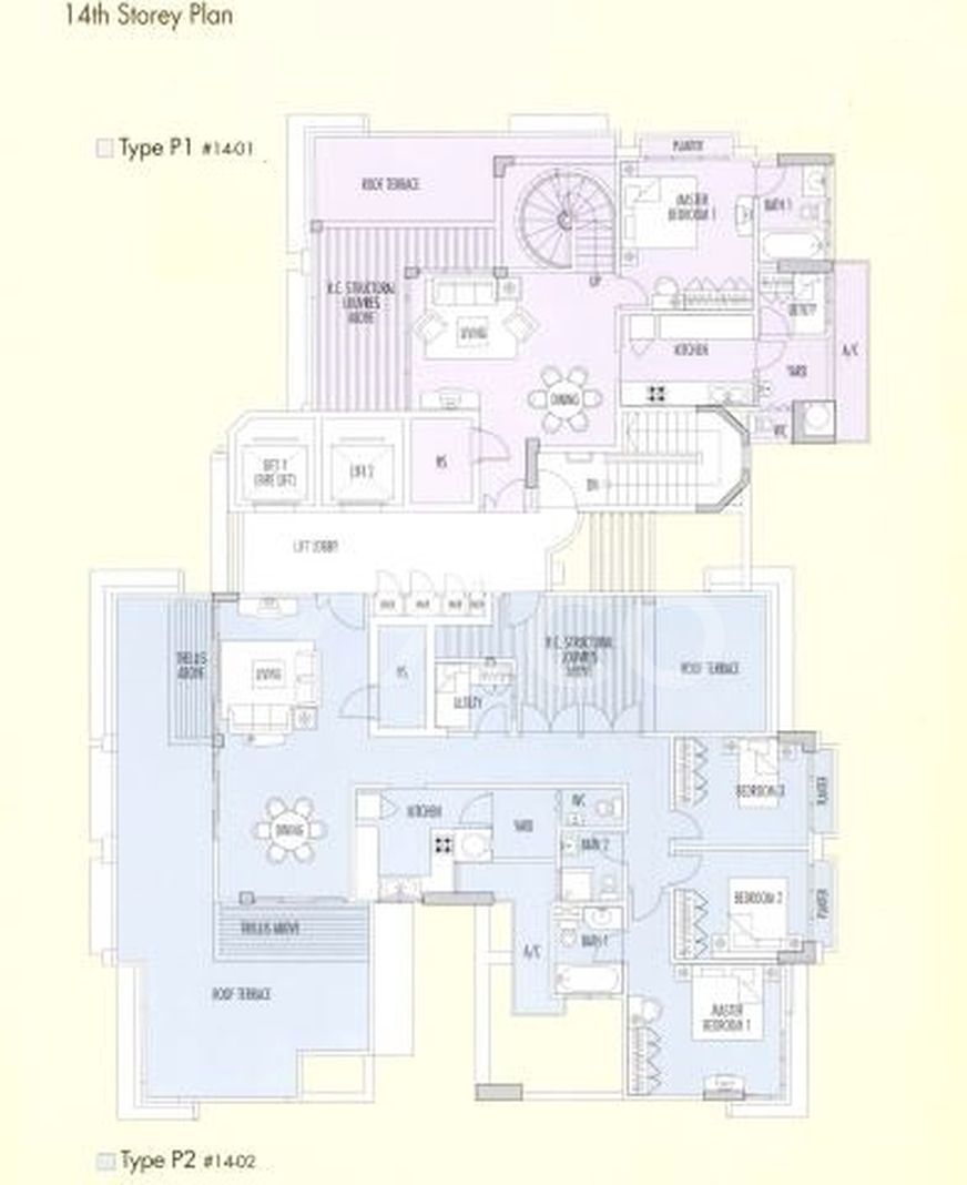 Apleton View Condo Elevation Chart and Unit Distribution by Stack and Block Level