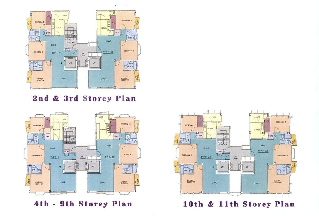 Regency Lodge Condo Elevation Chart and Unit Distribution by Stack and Block Level