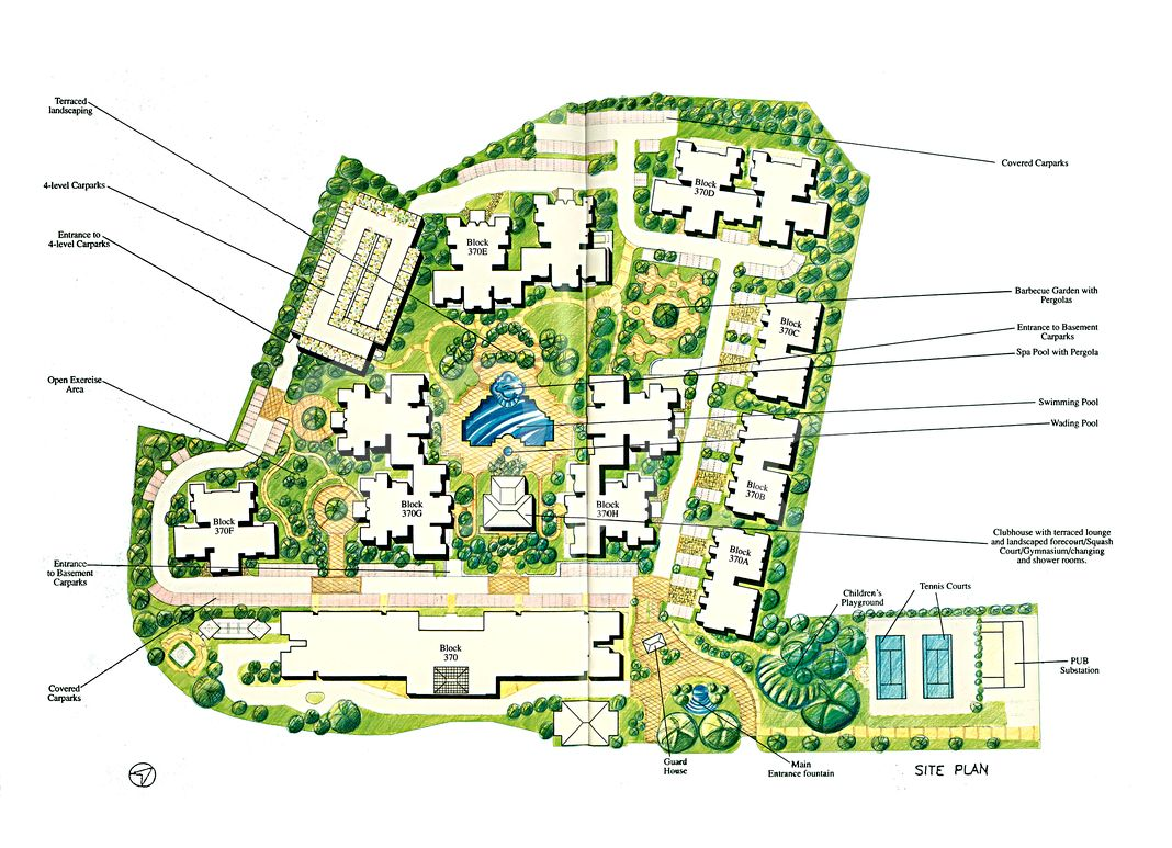 The Anchorage Condo Site Plan in Queenstown by Anchor Developments Pte Ltd (Frasers Centrepoint Homes)