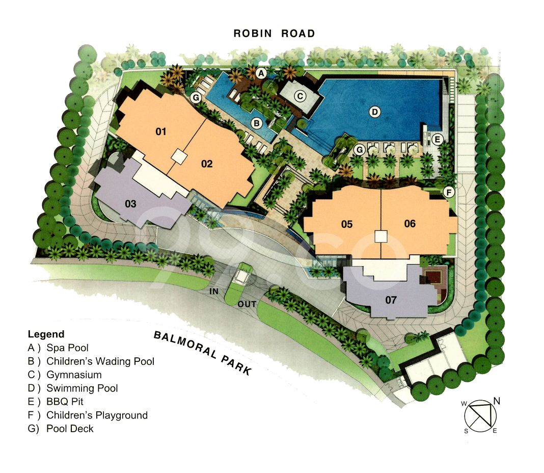 Balmoral Hills Condo Site Plan in Tanglin by Artesian Investments Pte Ltd