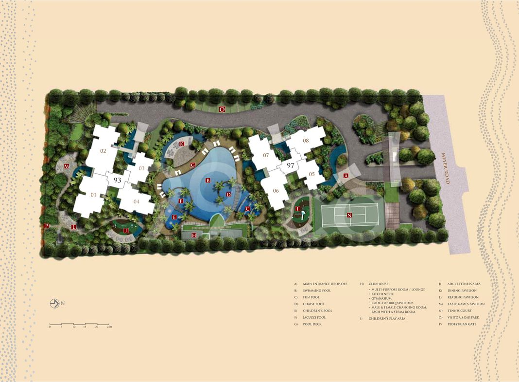 The Meyerise Condo Site Plan in Marine Parade by Hong Leong Holdings Limited