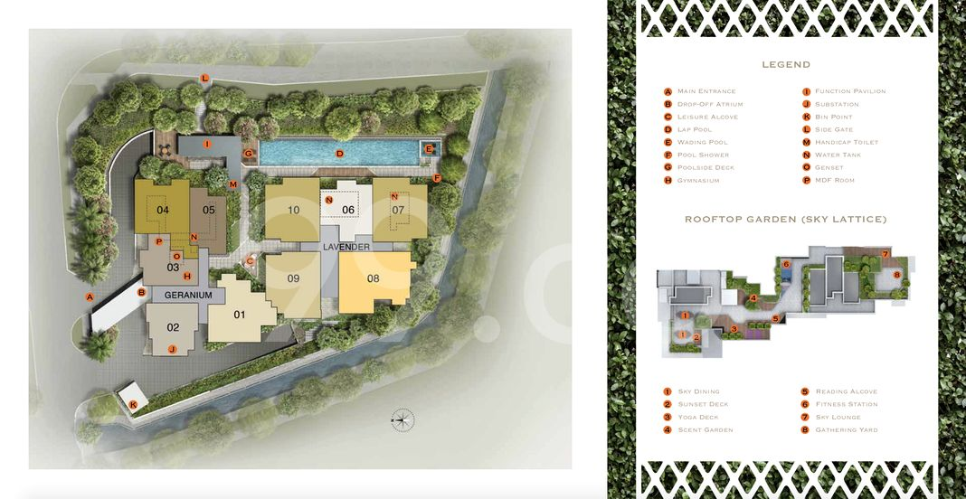 Lattice One Condo Site Plan in Ang Mo Kio by TEE Land Limited