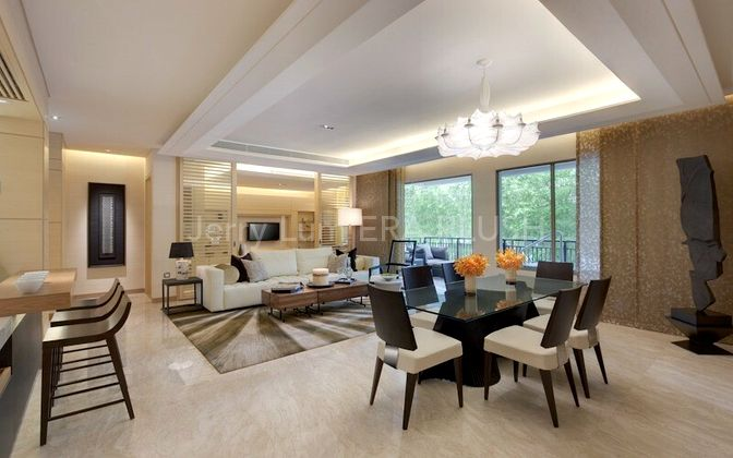 Fully Furnished Living and Dining Room
