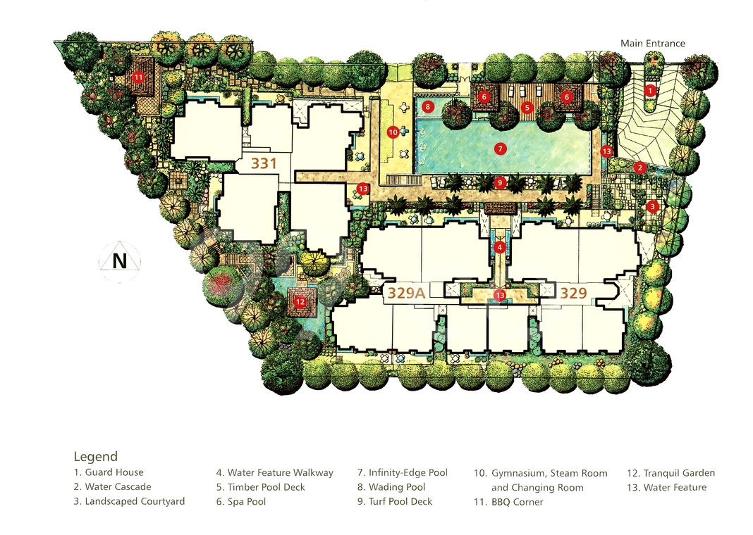 Amaninda Condo Site Plan in Novena by Ho Bee Investment Ltd