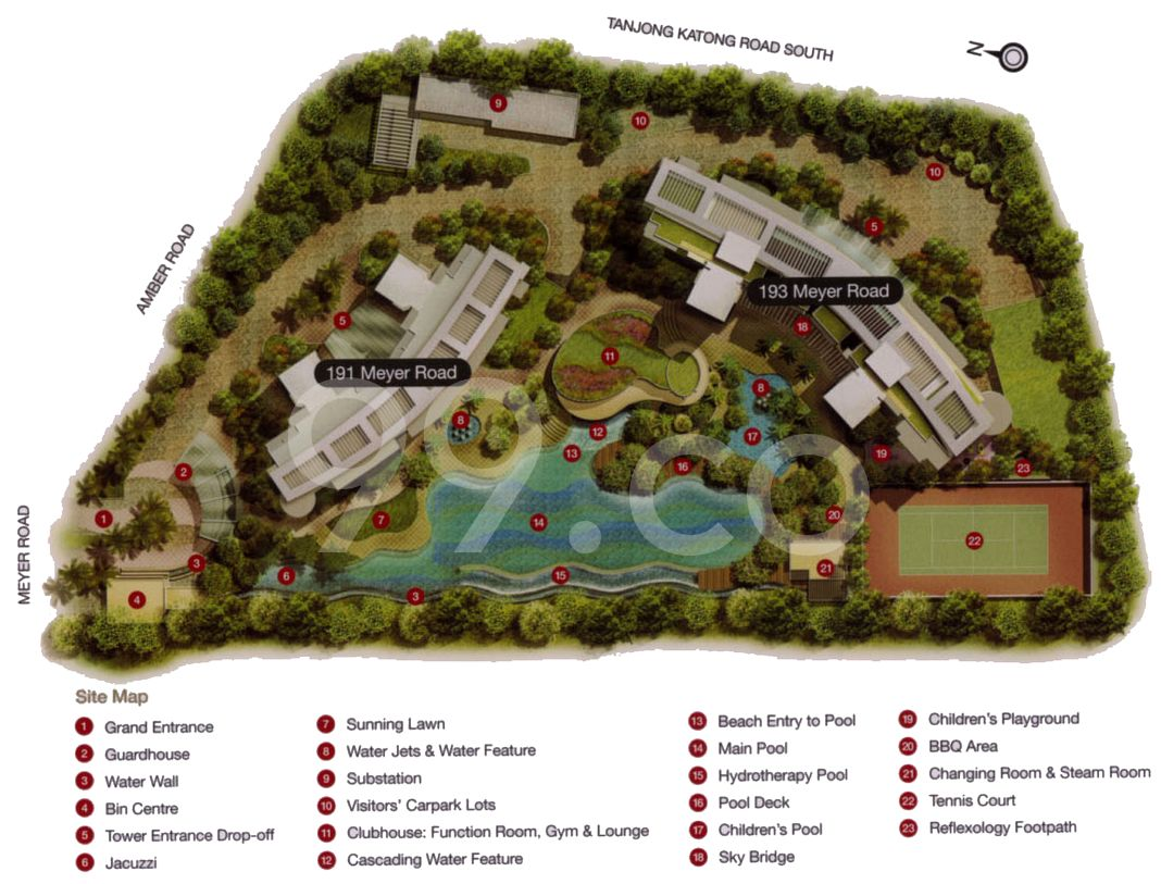 Aalto Condo Site Plan in Marine Parade by Hong Leong Holdings Ltd