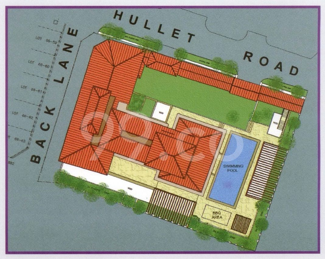 Hullet Rise Condo Site Plan in Newton by Shaw Realty