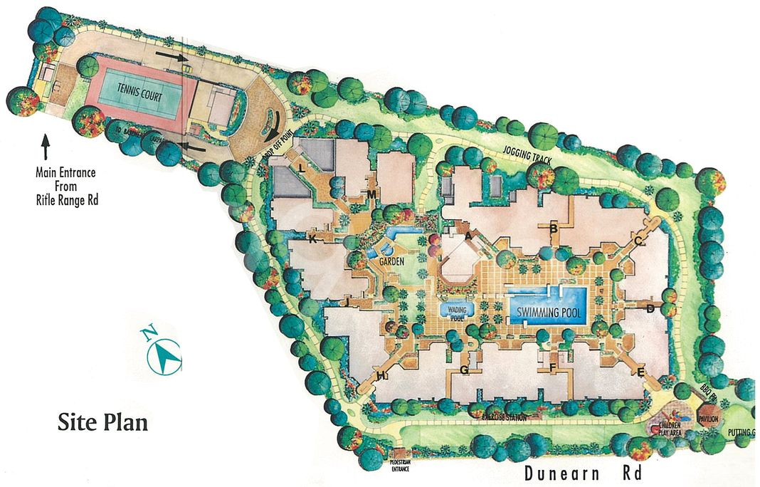 The Blossomvale Condo Site Plan in Bukit Timah by Winjoy Investment Pte Ltd (Wing Tai Holdings)