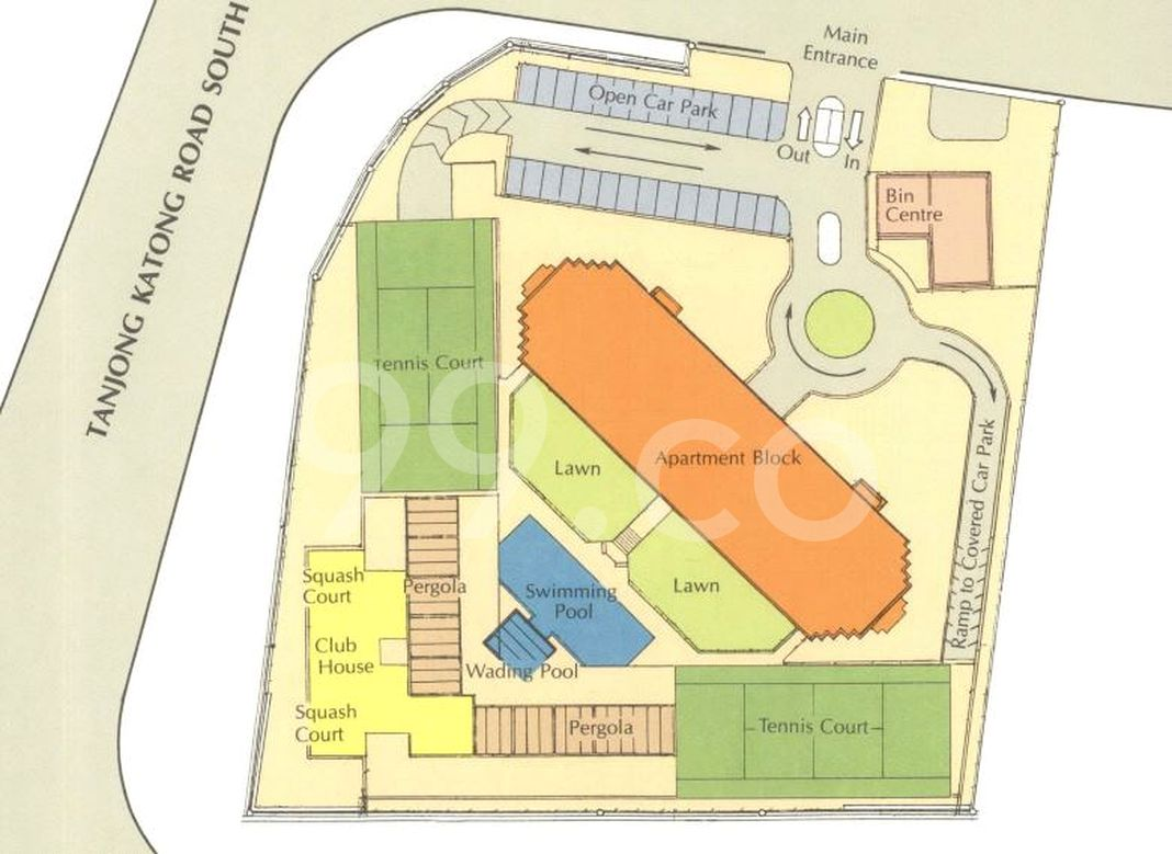 Amber Point Condo Site Plan in Marine Parade by Vermilio Investment Pte Ltd