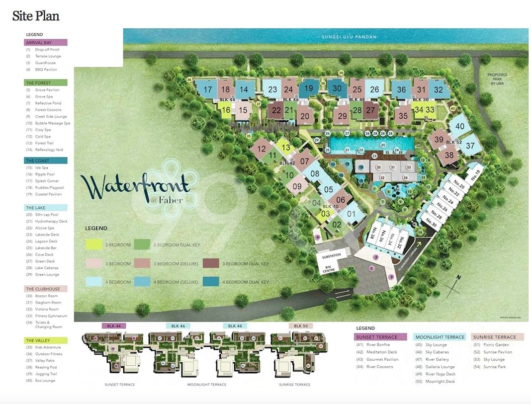 Waterfront @ Faber Condo Site Plan in Clementi by World Class Land Pte Ltd