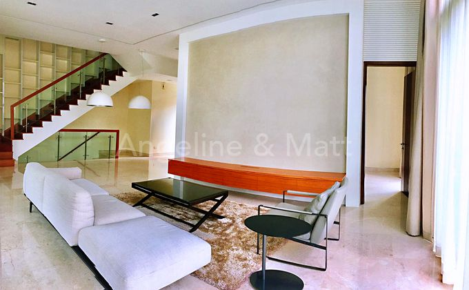 Living room is spacious and is great for entertaining guests.