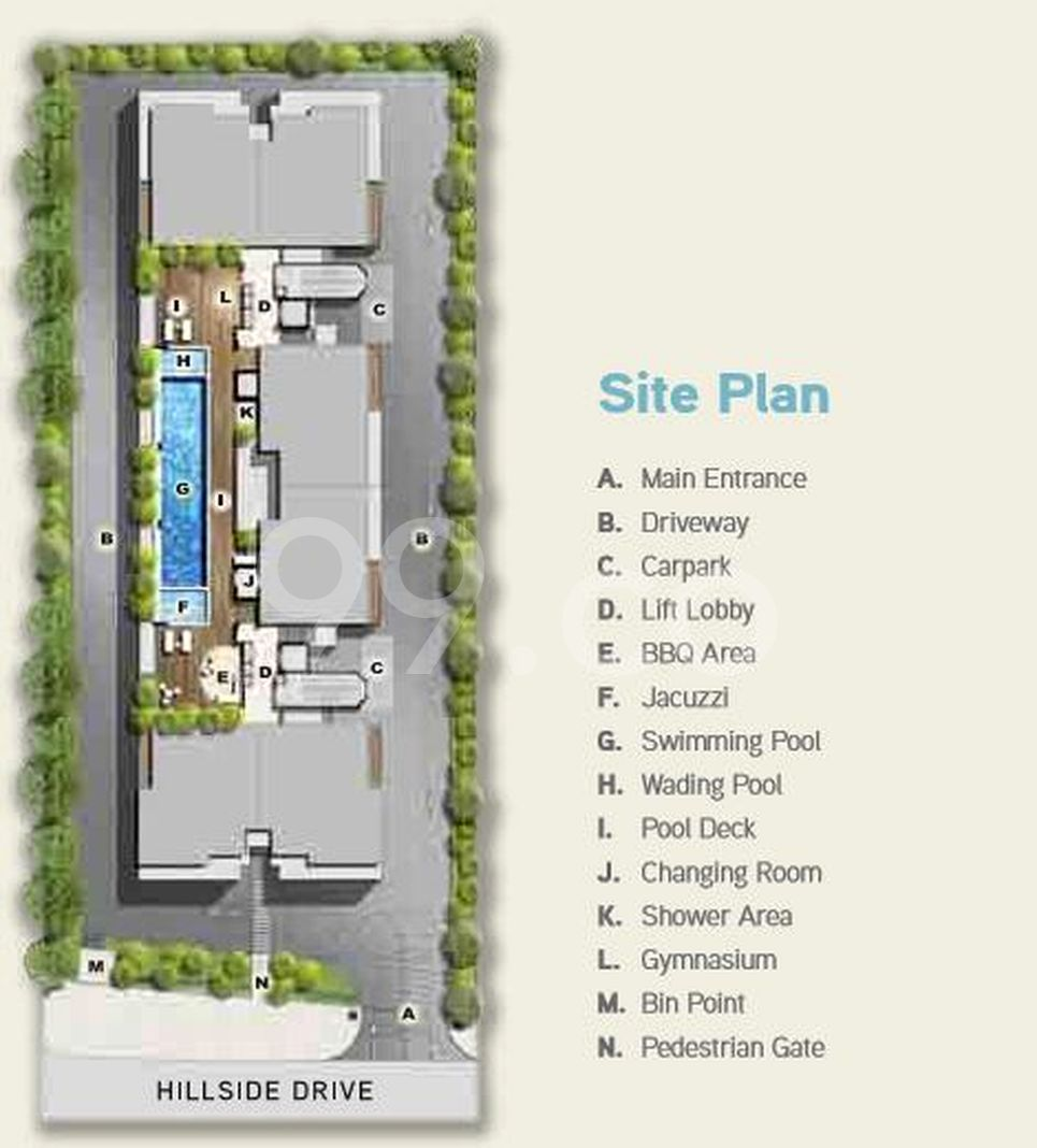 Hilbre 28 Condo Site Plan in Hougang by Development 72 Pte Ltd
