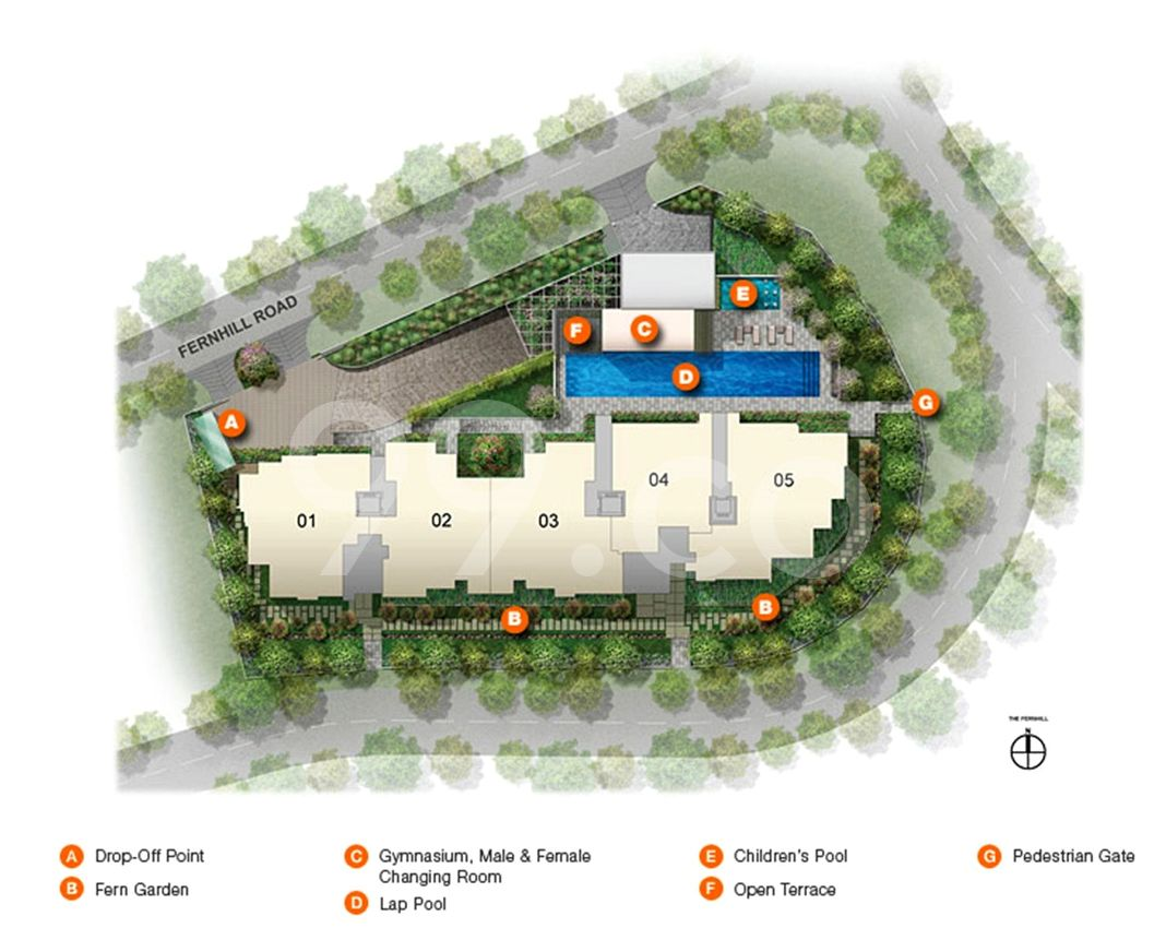 The Fernhill Condo Site Plan in Tanglin by Superport Pte Ltd (Mcl Land)