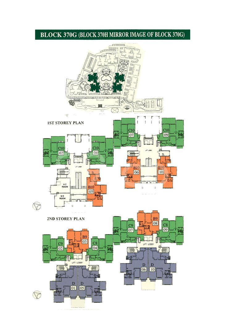 The Anchorage Condo Elevation Chart and Unit Distribution by Stack and Block Level