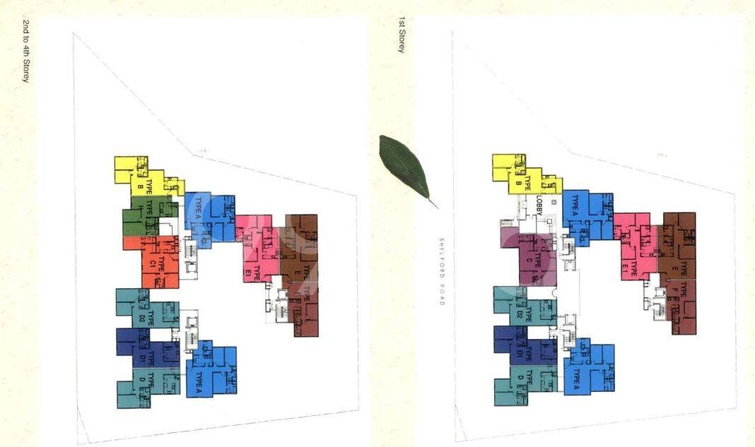 Kellett Court Condo Elevation Chart and Unit Distribution by Stack and Block Level