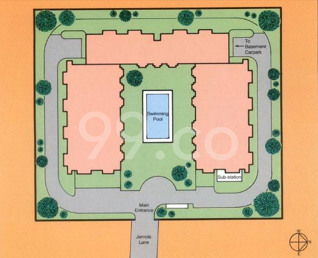 Clydesview Condo Site Plan in Tanglin by Clydesview Development Pte Ltd