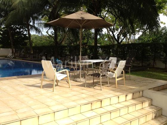 Swimming pool with pool deck