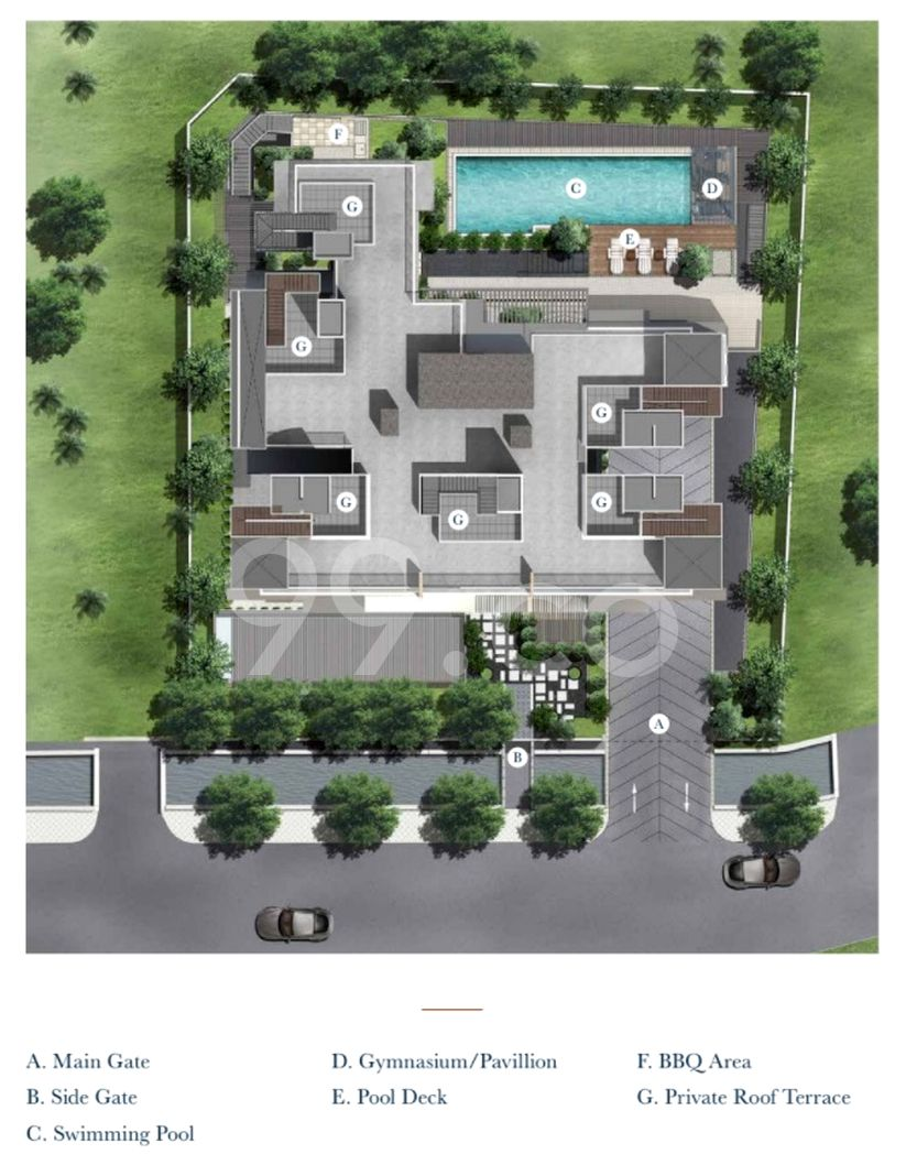 38 Jervois Condo Site Plan in Tanglin by Prominent @ Jervois Pte Ltd
