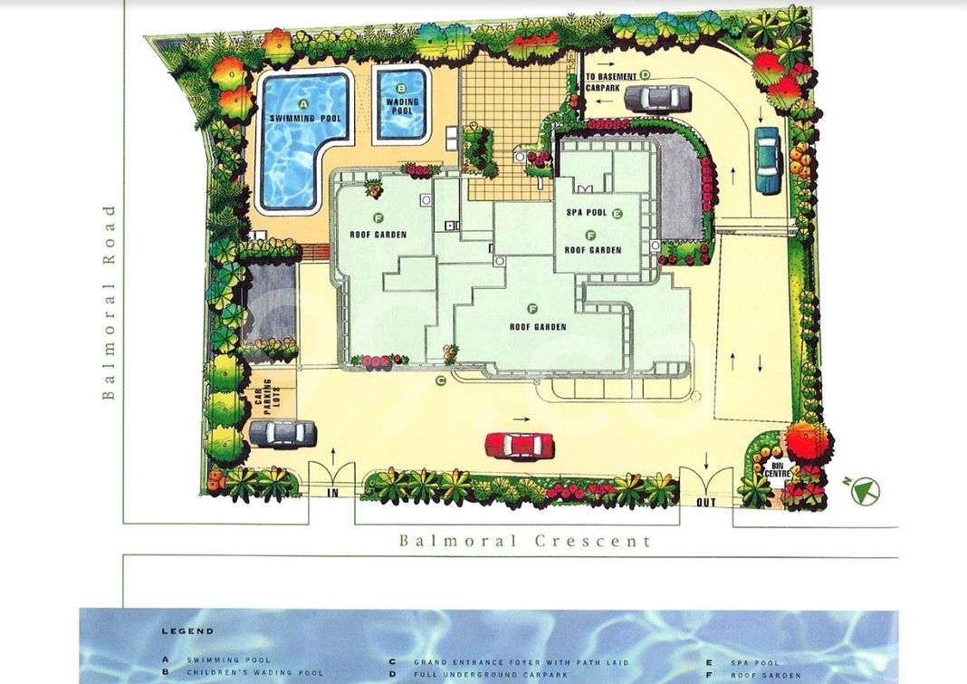 Balmoral Place Condo Site Plan in Newton by Hh Investment Pte Ltd