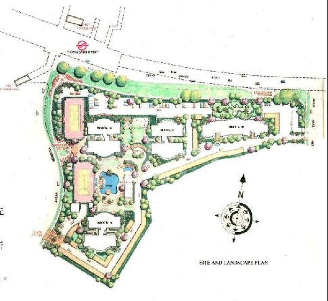 Central Green Condominium Condo Site Plan in Bukit Merah by Winwell Investments Pte Ltd (Wing Tai Asia)
