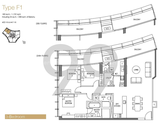 DUO Residences - Configuration F1