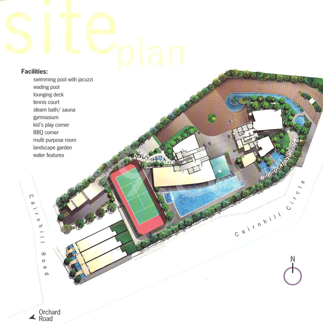 The Light @ Cairnhill Condo Site Plan in Newton by Wing Tai Asia