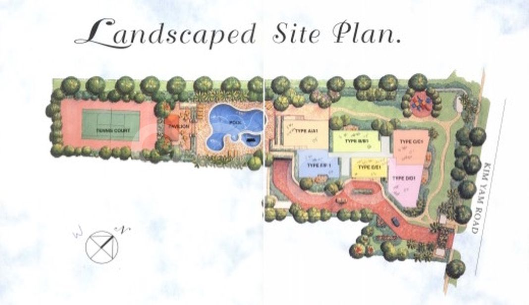 Oleanas Residence Condo Site Plan in River Valley